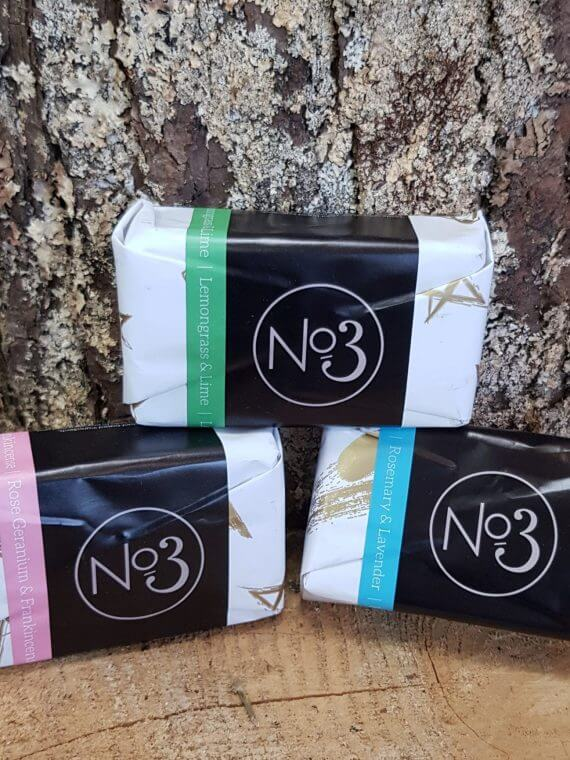 Trio of No3 Locally made soaps